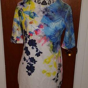 ASOS  Floral Stretche Dress sz 6